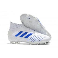 adidas Predator 19+ FG Scarpe da Calcio Uomo - Bianco Blu