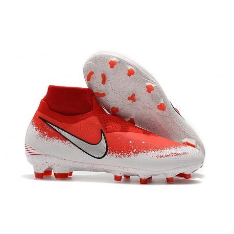 Nike Phantom VSN DF FG Scarpa Calcio - Rosso Bianco Argento