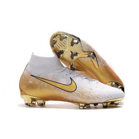 Scarpe Calcio Nike Mercurial Superfly VI Elite FG - Bianco Oro