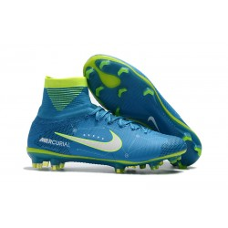 Scarpa Neymar Nike Mercurial Superfly 5 Dynamic Fit FG - Blu Bianco