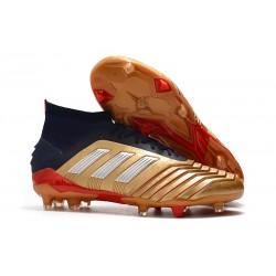 Scarpe da Calcio Adidas Predator 19.1 FG Oro Rosso Argento