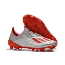 Scarpa Nuovo adidas X 19.1 FG Argento Rosso