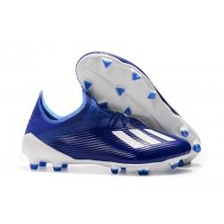 Scarpa Nuovo adidas X 19.1 FG Blu Bianco