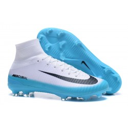 Scarpa Nike Mercurial Superfly 5 Dynamic Fit FG - Bianco Blu