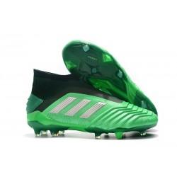 adidas Predator 19+ FG Scarpe da Calcio Uomo - Verde Nero Argento