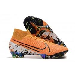 Scarpa Nike Mercurial Superfly 7 Elite FG Arancione Bianco Nero