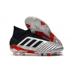 Scarpe da Calcio Adidas Predator 19.1 FG Argento Nero Rosso