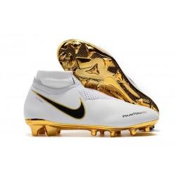 Scarpe da Calcio Nike Phantom Vision DF FG - Bianca Oro