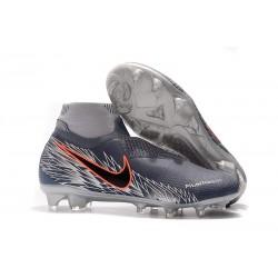 Nike Phantom VSN DF FG Scarpa Calcio - Grigio Nero Rosso