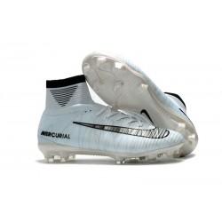 Nike Ronaldo Scarpe da Calcio Mercurial Superfly FG V CR7 FG - Bianco Nero