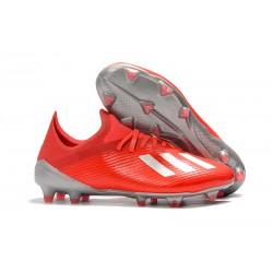 Scarpa Nuovo adidas X 19.1 FG Rosso Argento