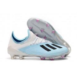 Scarpa Nuovo adidas X 19.1 FG Bianco Blu