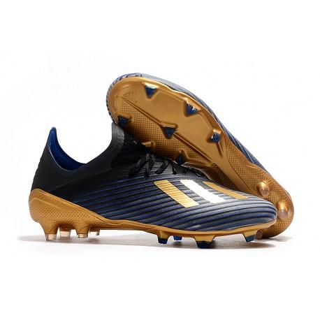 Scarpa Nuovo adidas X 19.1 FG Nero Blu Oro