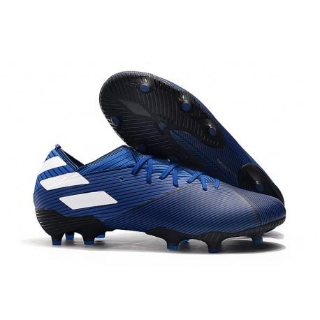 Scarpe Da Calcio adidas Nemeziz 19.1 FG - Blu Bianco