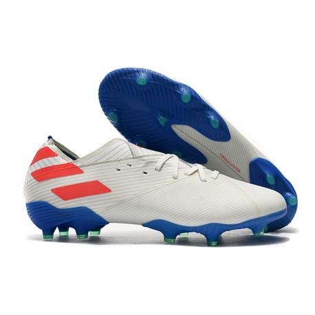Scarpe Da Calcio adidas Nemeziz 19.1 FG - Bianco Rosso Blu