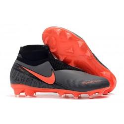 Scarpe da Calcio Nike Phantom Vision Elite FG Nero Rosso