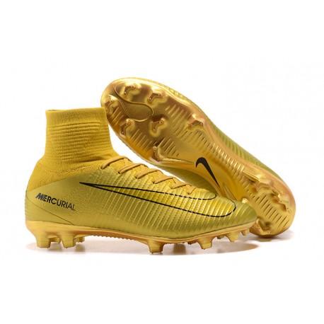 più recente servizio duraturo nuovo autentico Nike Ronaldo Scarpe da Calcio Mercurial Superfly FG V CR7 FG - Oro