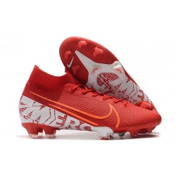 Scarpa Nike Mercurial Superfly 7 Elite FG Rosso Bianco