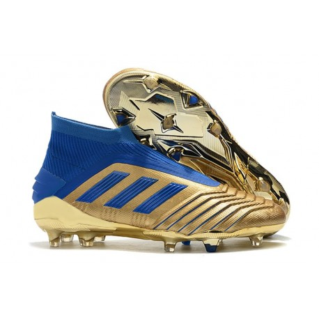 adidas Predator 19+ FG Scarpe Uomo Oro Blu
