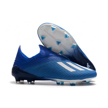 adidas X 19+ FG Scarpa da Calcio Blu Bianco