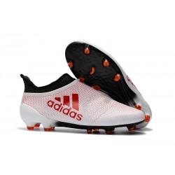 Scarpe da Calcio Nuove adidas X 17+ Purespeed FG - Bianco Rosso