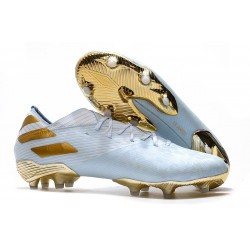 Scarpe Da Calcio adidas Nemeziz 19.1 FG - Bianco Oro Metallico Light Aqua