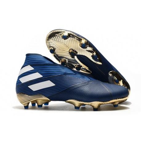 Adidas Nemeziz 19+ FG Scarpe da Calcio - Blu Bianco Nero