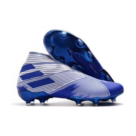 Adidas Nemeziz 19+ FG Scarpe da Calcio - BIANCO BLU