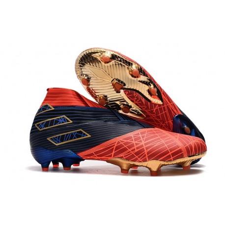 Adidas Nemeziz 19+ FG Scarpe da Calcio - Spider-Man Rosso Nero