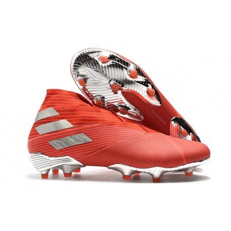 Adidas Nemeziz 19+ FG Scarpe da Calcio - Rosso Argento