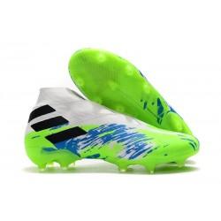 Adidas Nemeziz 19+ FG Scarpe da Calcio - Bianco Verde Blu