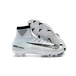 Ronaldo Nike Scarpe da Calcio Mercurial Superfly FG V CR7 FG - Bianco Nero