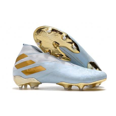 Scarpa Adidas Nemeziz 19+ FG -Acqua Bold/ Oro Metallico/ Bianco