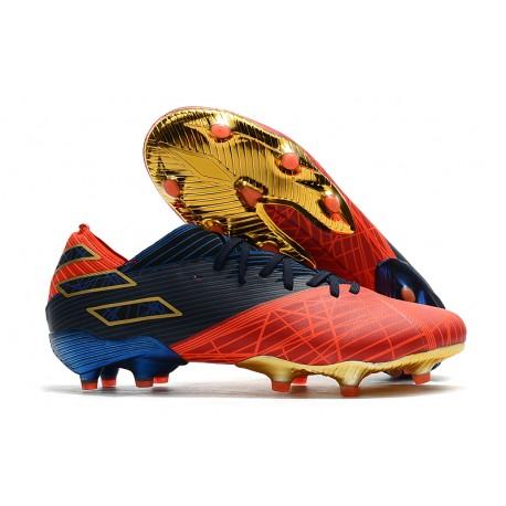 Scarpe Da Calcio adidas Nemeziz 19.1 FG -X Marvel Rosso Blu Nero