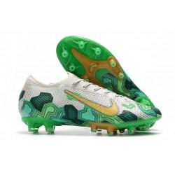 Nike Scarpa Mercurial Vapor 13 Elite AG Pro Mbappe Grigio Vast Oro Verde